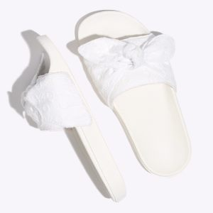 Damske Sandale Vans Cotton Lace Slide-On Biele | MFU-790