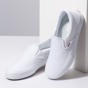 841f2c402e9ba Lacne Vans Slip-On Pro Biele - Vans Slip-On Tenisky Panske Zlavy